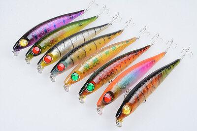 Lot 8pcs Seawater Huge Pencil Fishing Lures Crank Baits Bass Tackle 14.5cm 44g