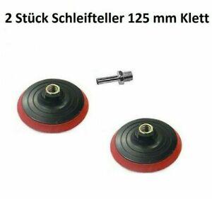 Schleifteller Bohrmaschinen Winkelschleifer 125mm Ø Klett Haft Schleifpapier