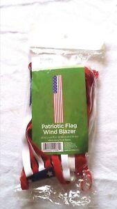 Wind-Sock-Blazer-US-Flag-Pattern-In-Outdoor-Patriotic-Decor-25-034-L-x-4-75-034-W-NIP