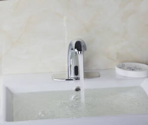 Image Is Loading Automatic Electronic Sensor Touchless Faucet Hands Free Bathroom
