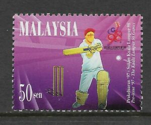 MALAYSIA 1997 COMMONWEALTH GAMES CRICKET 1v MNH