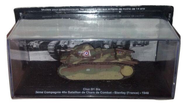 Tank De Agostini Char B1 Bis 1/72 Bienfay 1940 Diecast