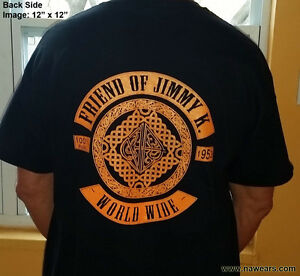 Narcotics Anonymous -  FRIEND OF JIMMY K  - Black & Orange T-Shirt  - S-5X