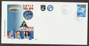 Discret Fdc Cover Space Soyuz Ms-09 Landed. Iss Expedition 57. 20-12-2018 Finland