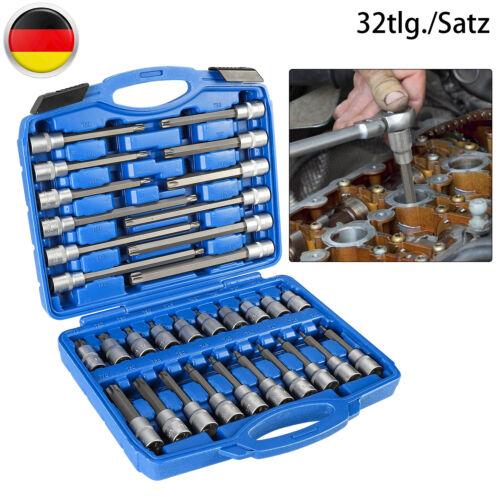 Steckschlüssel Satz Sechskant Innensechskant Langnuss Set 1//2zol Schrauben