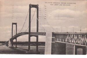 Postcard Delaware Memorial Bridge NJ + DE