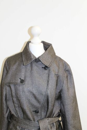 Uk Glen Banana Women's Black Belted Grey Jacket Check Republic 14 6A6wWPx8