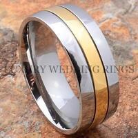 Titanium Wedding Band Ring 14k Gold Jewelry Size 6-13