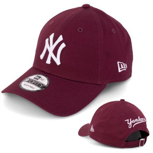 New Era 9Forty New York Yankees Snapback Cap Kappe Kappe maroon weiss 95072