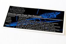 Lego Star Wars UCS / MOC Sticker for Super Star Destroyer (10221 / Anio ST05)