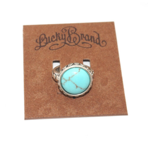 Lucky Brand Argent et Turquoise Ring Taille 7
