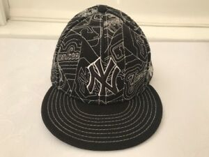 New Era New York Yankees Hat Cap 7 3 8 Wool Fitted Black All ... 0bc2c809aca2