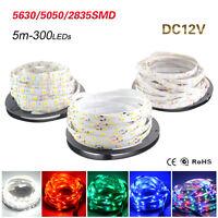 5M RGB LED Strip Flexible Light Lamp Ribbon Tape 3528 5630 5050 2835 SMD 300LED