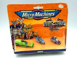 Figurine-biker-mice-micro-machine-pack-mini-figure-vintage-modo-blister-galoob