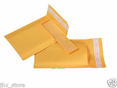 "1pcs Kraft Bubble Mailers Padded Envelope Bags USABLE SIZE 3"" x 6""_75 x 150mm"