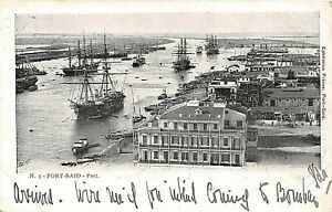 POSTCARD-EGYPT-PORT-SAID