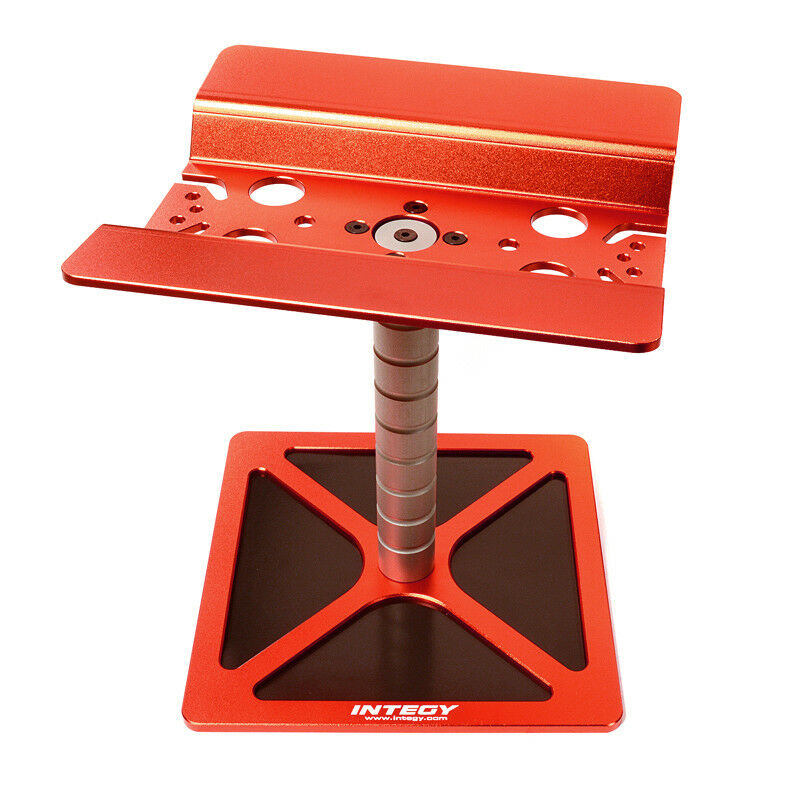 INTEGY RC C28007rosso Professional Car Stand Workstation for Traxxas X-Maxx 4X4
