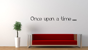 Once Upon A Time Word Quote Wall Art Sticker Home Room Decor