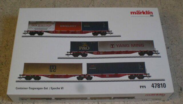 Märklin 47810 Container-Tragwagen-Set der Deutschen Bahn AG (DB AG)   NEU/OVP