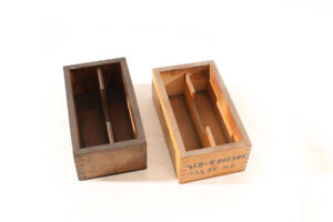 Old-Box-Wood-Transport-Chest-Storage-Measuring-Tool-Vintage-Old