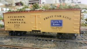 Roundhouse-MDC-Santa-Fe-034-Fruit-Line-034-Old-Time-36-039-Reefer-Upgraded-Exc