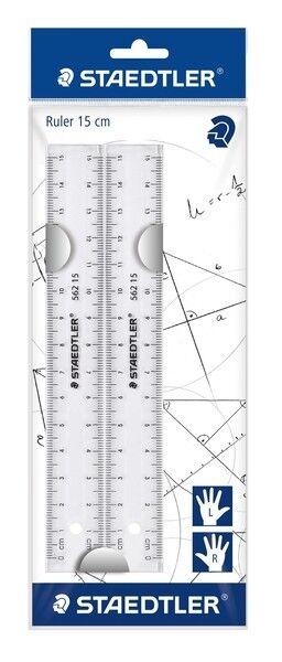 Staedtler Lineal Kunststoff transparent 15cm, 2er Beutel 562 152 PB NEU & OVP