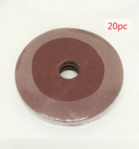 "NEW 20pc 4.5/"" 40,50,60,100 Grit Resin Fiber Disc Grinding /& Sanding Discs"