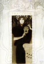 Gustav Klimt - Tragedy 1897 A3 Art Poster Print