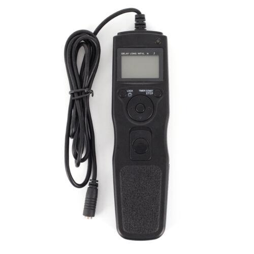 Temporizador cable disparador remoto para Canon Nikon Sony Olympus con cable extraíble de 7 piezas
