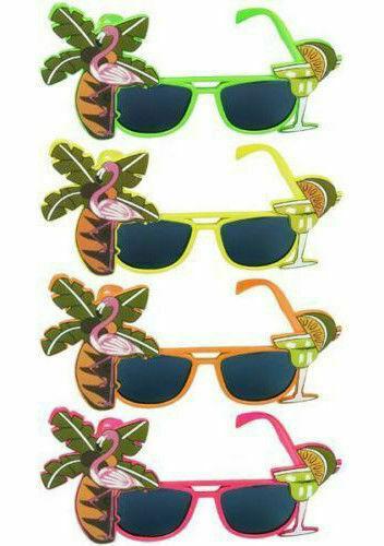 HAWAIIAN SUMMER SUNGLASSES GLASSES SPECS TROPICAL PARTY FANCY DRESS NOVELTY