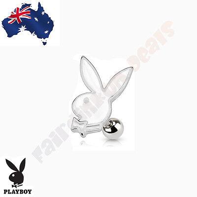 316 Surgical Steel Genuine Playboy Bunny Diamond Card Suit Tragus//Cartilage Stud