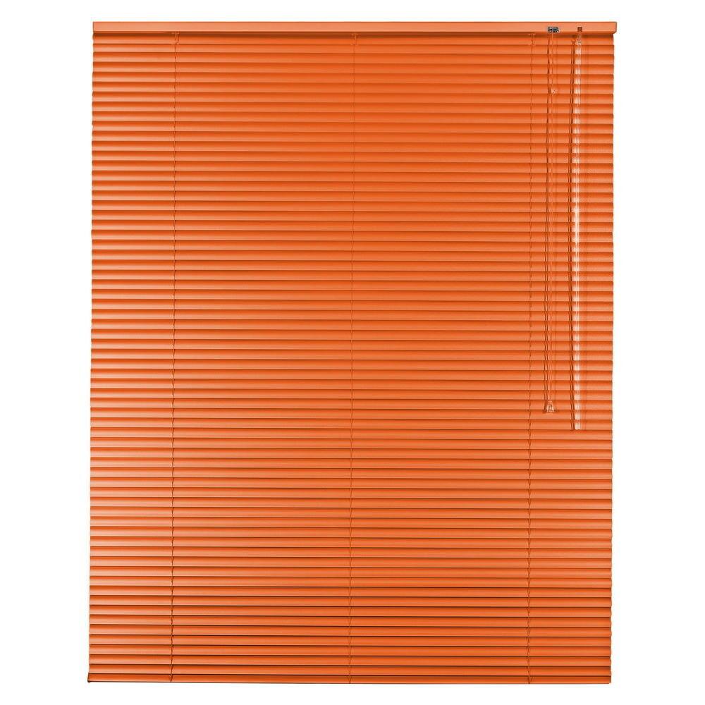 Aluminium Jalousie Alu Jalousette Jalusie Fenster Tür Rollo - Höhe 50 cm Orange