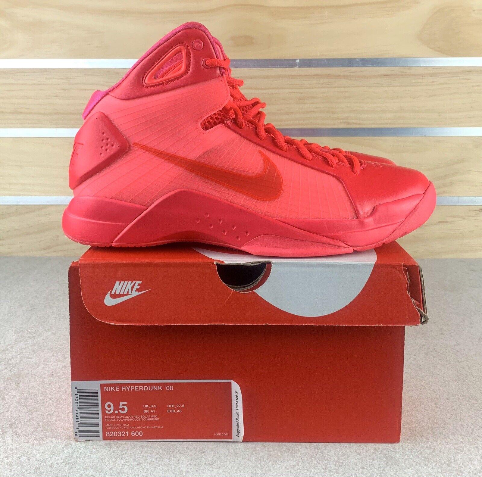 Nike Hyperdunk 08 Retro Solar Red New