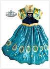 Robe Déguisement .Costume La Reine des Neiges Frozen Elsa Anna Enfant Fille