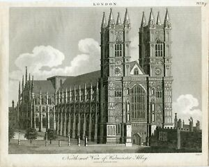 North-West-View-Of-Westminster-Abbey-Engraved-By-J-Pays-1815