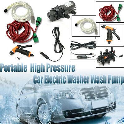 Portable 12V 100W 160PSI High Pressure Car Electric Washer Auto Wash Pump Set US
