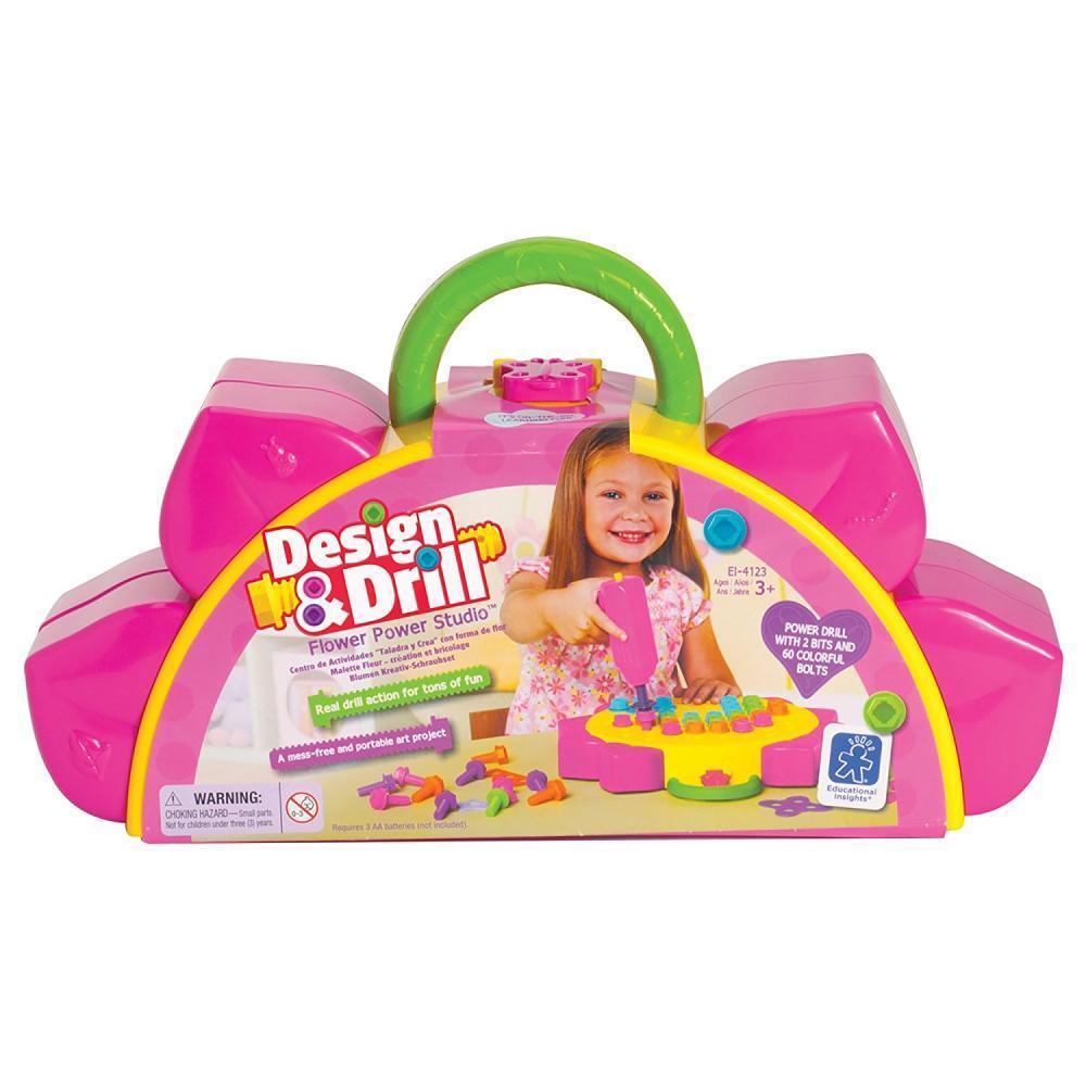 Kids Flower Power Studio Drill Design Educational Toy DIY Girl Gift STEM NEW