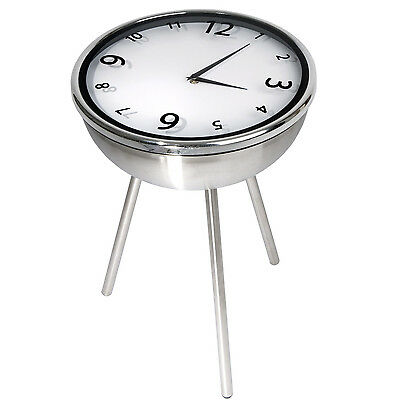 Retro Clock Table Stainless Steel, Side table, Coffee Table, Bedside Table