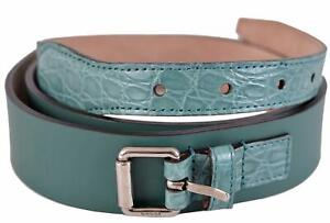 419e96bc6e8 New Gucci Men s Teal Green Alligator and Leather Palladium Buckle ...