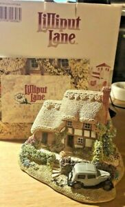 BNIB-Lilliput-Lane-034-Heaven-Lea-COTTAGE-034-c-1993-Just-Married-w-Deeds-amp-Brochure