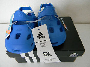 cce09dec1dc0 Brand New in Box ADIDAS Toddler Boys VARISOL I Slides Sandals Royal ...