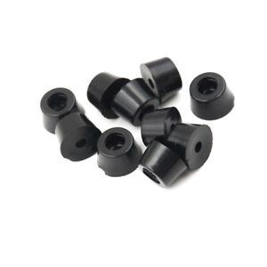 10X 17x 10mm runde kabinett schwarz gummi instrumentenkoffer füße fuß zirkuCGSP