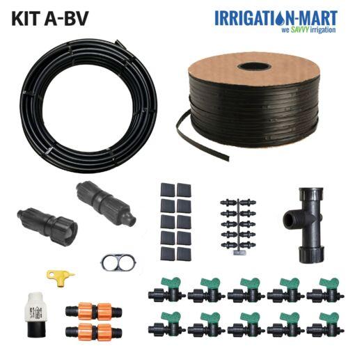 Garden Drip Irrigation Kit A-BV 10 row 1000ft tape vegetable hemp water system
