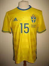 Sweden vs Hungary MATCH WORN Hiljemark SIGNED football shirt soccer jersey sz L