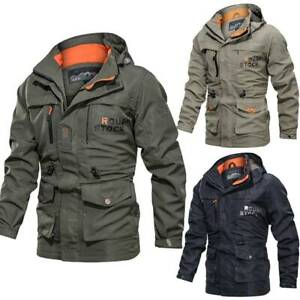 Men-Combat-Army-Military-Tactical-Jacket-Shell-Hunting-Waterproof-Coat-Plus-Size