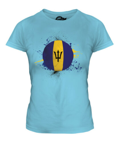 BARBADOS FOOTBALL LADIES T-SHIRT TEE TOP GIFT WORLD CUP SPORT