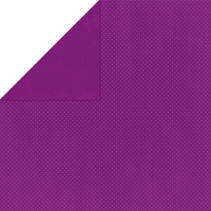 """BoBunny Double Dot Double-Sided Textured Cardstock 12""""""""X12""""""""-Grape"""