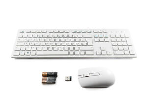 DELL KM636 Wireless Keyboard and Mouse Set Combo GERMAN DEUTSCH Layout WHITE R