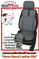 Leather Seat Covers 2021 22 Ford F 150 Supercrew Supercab Xlt Black Lunar Gray