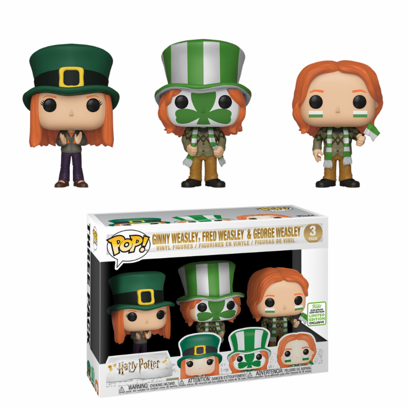 Funko POP   Movie - Harry Potter 3pack Quidditch Ginny Frot & George ECCC 2019